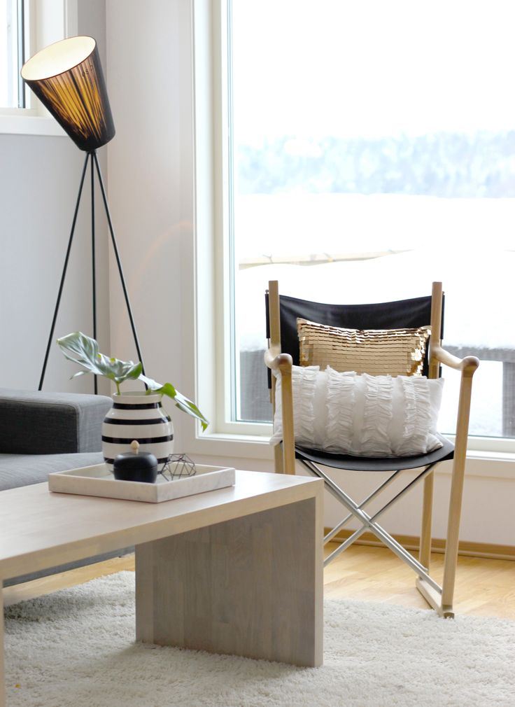 My favorite lamp and chair!