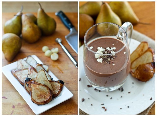 Caramelized Pear, Chocolate, and Goat Cheese Smoothie