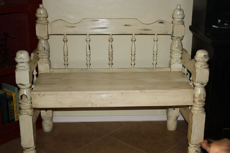 Finished My Bench Made From Headboard Footboard And I Am