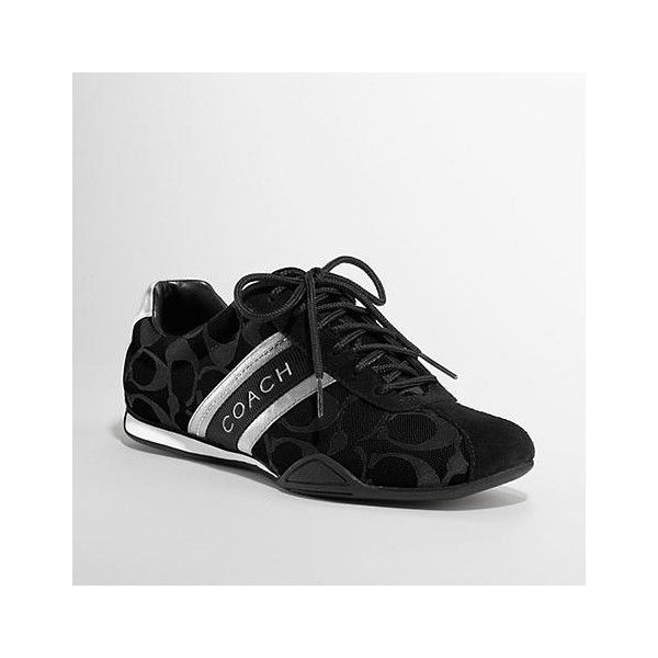 Jayme Sneaker ($79) ❤ liked on Polyvore featuring shoes, sneakers, tennis shoes, women, coach shoes, coach footwear, coach sneakers and tenny shoes