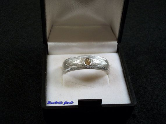 Yellow sapphire on Sterling Silver