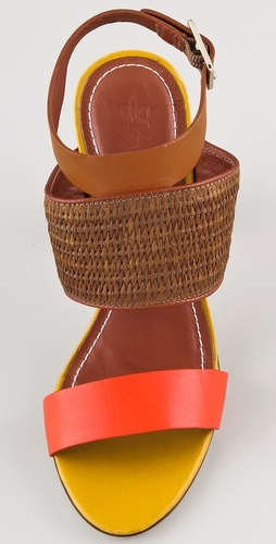 Elizabeth and James Clair Colorblock Sandals. i like the color combo.