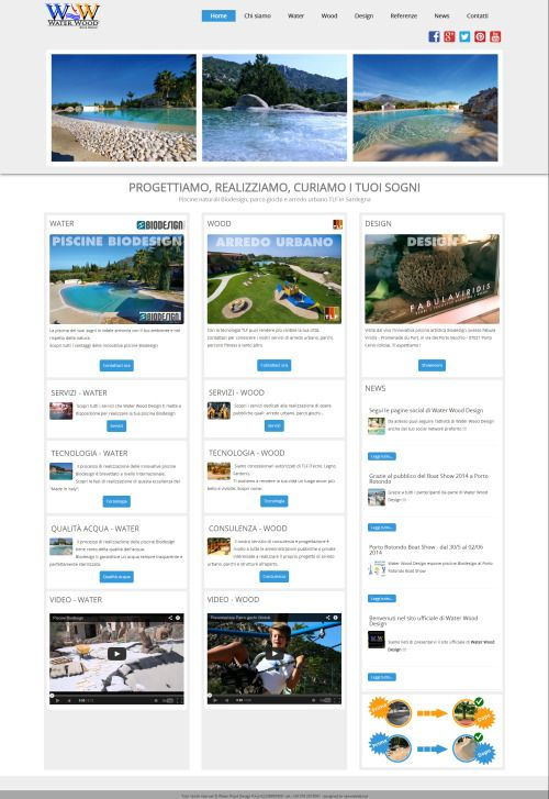 Water Wood Design homepage - Newweblab.net
