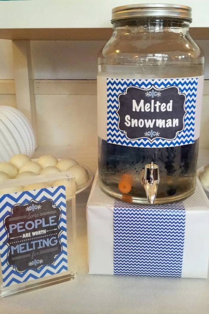 Melted snowman drink!! Disney's Frozen themed birthday party with SUCH CUTE IDEAS via Kara's Party Ideas! full of decorating ideas, recipes, cakes, cupcakes, games, favors, printables, and MORE! #frozen #frozenparty #doyouwannabuildasnowman #partystyling #partyplanning #eventplanner #partydesign #eventplanning (8)