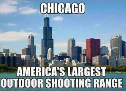 Strict gun laws enforced here! Think about it!!! Criminals still have guns. Law abiding citizens don't. Obama's Chicago....
