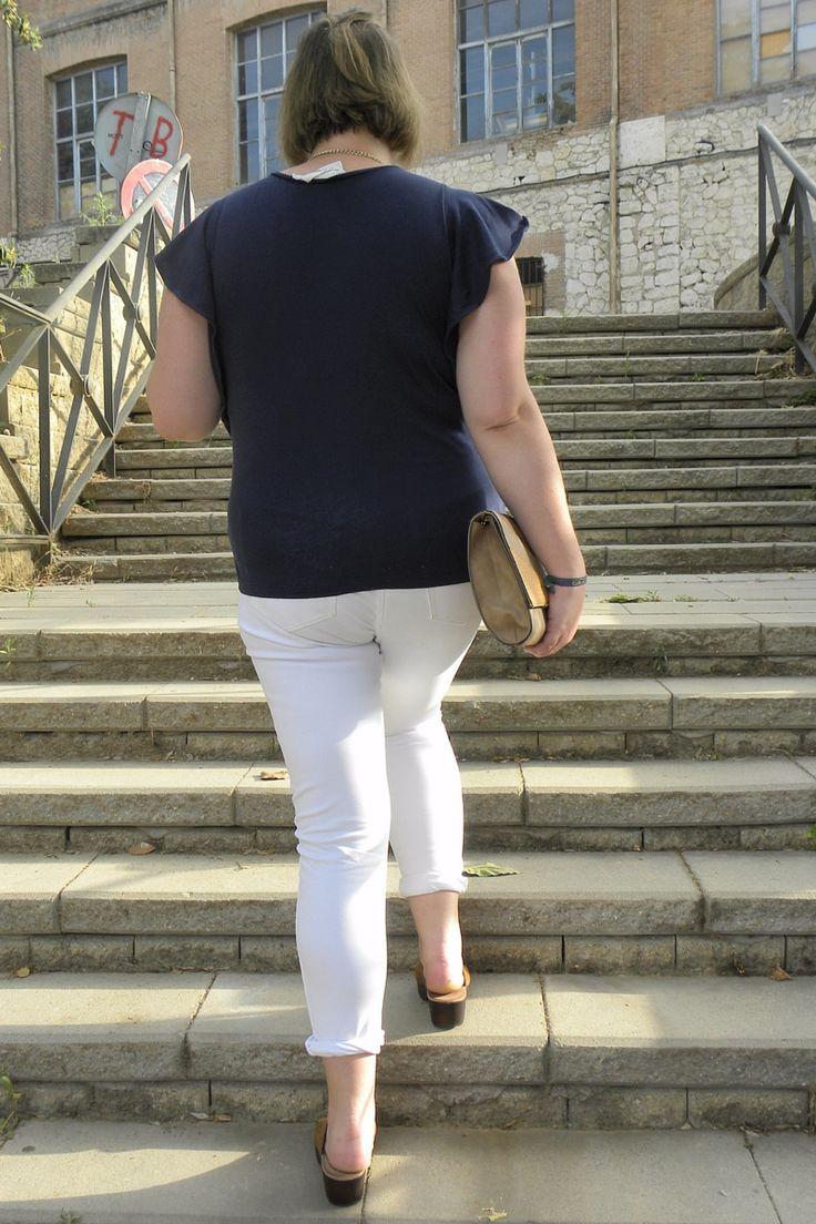 Trendy Curvy - Plus Size Fashion BlogTrendy Curvy Jeans Blanco Violeta By Mango Zuecos MaryPaz Cluth Primark Camiseta H&M summer 2016 talla grande Plus Size. LOOKS CASUALS CURVY. #loslooksdemiarmario #verano #summer #lookverano #jeans #jeanblanco #violetabymango #zuecos #blancoyazul #mintycoral #look #lookverano #lookcasual #lookschic #tallagrande #curvy #plussize #curve #fashion #blogger #madrid #bloggercurvy #personalshopper #curvygirl #primark