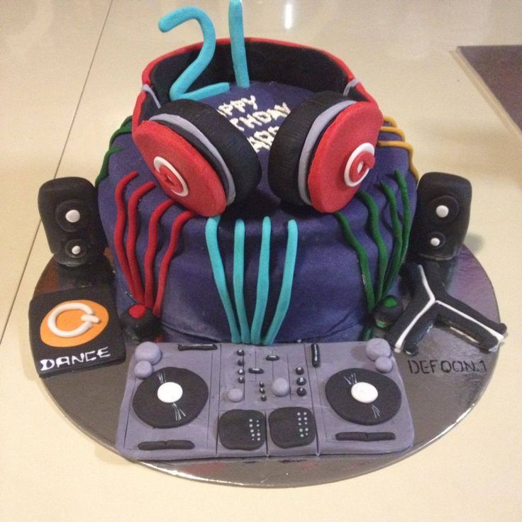 Dj/ Rave Cake- Becs Custom Creations on Facebook