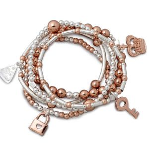 VT Bracelet Set Rose Gold and Silver - Shop our jewellery store in Port Fairy - Victoria, Australia.