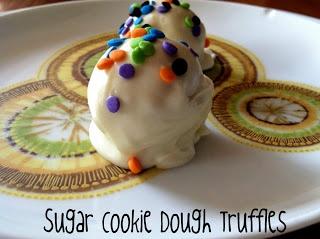 Sugar Cookie Dough Truffles - egg free and no bake!
