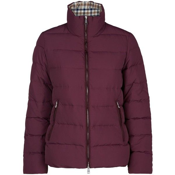 Aquascutum Radcliffe Short Down Jacket (€240) found on Polyvore featuring women's fashion, outerwear, jackets, clearance, plum, purple…