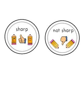 These are FREE sharp and not sharp pencil labels that you may use.