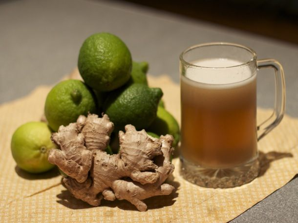 Ginger Beer recipe from Serious Eats.  This is a lot simpler than all the other recipes I've found... I love ginger beer!  Ginger is very healthy for you too.