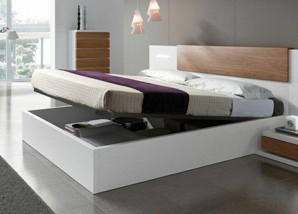 Lit king size mobilier design en bois de cadre | Chambre | Chambre ...
