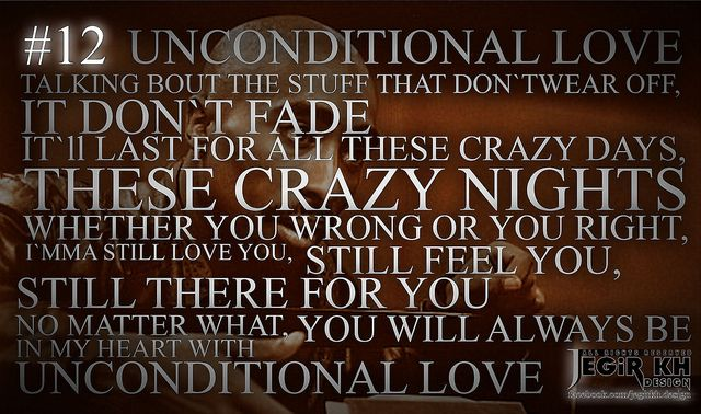 2pac Quotes & Sayings (JEGiR KH Design) 12- Unconditional love. Talking bout the stuff that don't wear off, it don't fade. It'll last for all these crazy days, these crazy nights. Whether you wrong or you right, I'mma still love you, still feel you, still there for you. No matter what, you will always be in my heart with unconditional love