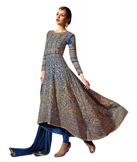 Add style to your appearance with this superb #BLUE #GEORGETTE #ANARKALI #SALWAR #SUIT. Buy now from India's best online shopping portal – http://ow.ly/leno303FBA7 and get 5% Off + free shipping (India and Sri Lanka only) if you have any problem talk to our customer representative on Live Chat today or WhatsApp at +91 966-066-0088 !!!!