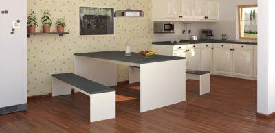 Integrierter Essbereich in der Küche. Gemütliches Beisammensein lässt sich so genießen!
