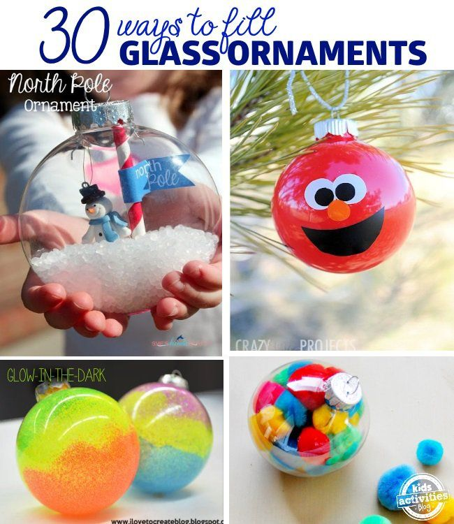ways to decorate glass ornaments