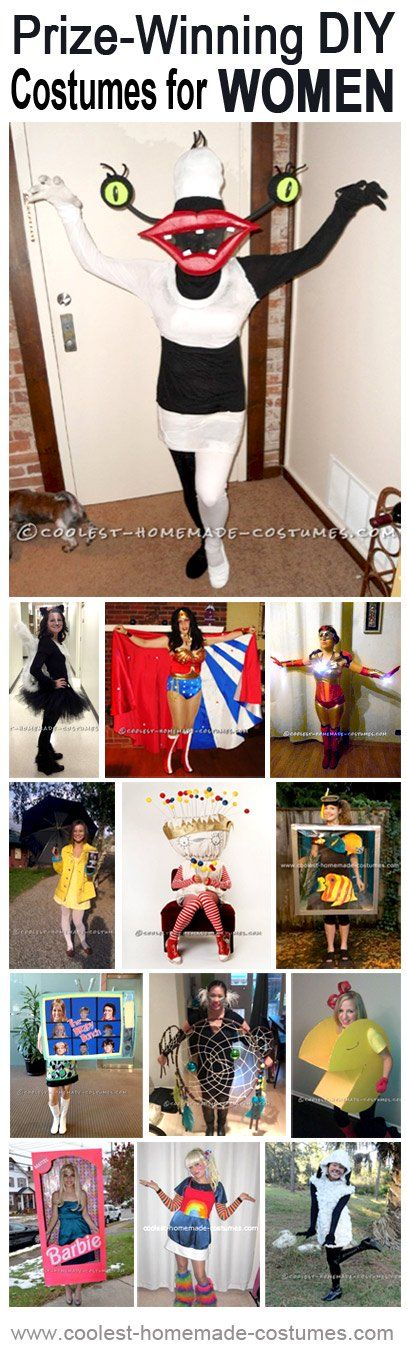 The women Halloween costumes in this collection all won prizes at local costume contests. They'll all serve as great inspiration on your quest for a perfect costume to make and also one that has potential to win a prize at Halloween costume contests you'll be attending.