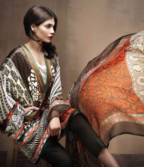 Sana Safinaz Silk Collection 4A
