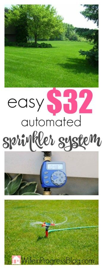 Your lawn needs plenty of water in order to stay hydrated and beautifully green over the summer months. Using this one product you can DIY your own spinkler and irrigation system that does the trick very nicely!!