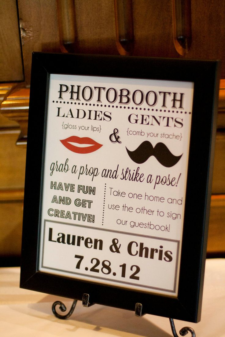 DIY Photo Booth Sign. $15.00, via Etsy.