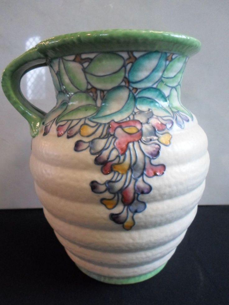 Charlotte Rhead Crown Ducal 4954 Wisteria Vase