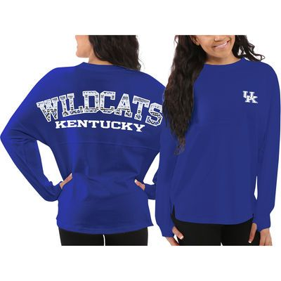 ♥♥Kentucky Wildcats Women's Aztec Sweeper Long Sleeve Oversized Top - Blue