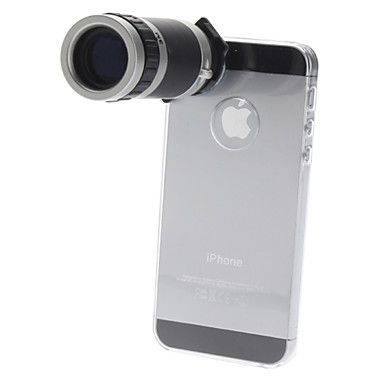 6X Optical Zoom Lens Camera Telescope for iPhone 5  – USD $ 16.99