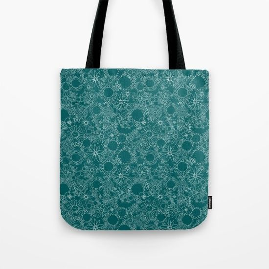 totebag with my design on it - find it on @society6 :) #totebag #surfacepatterndesign #flowerpattern