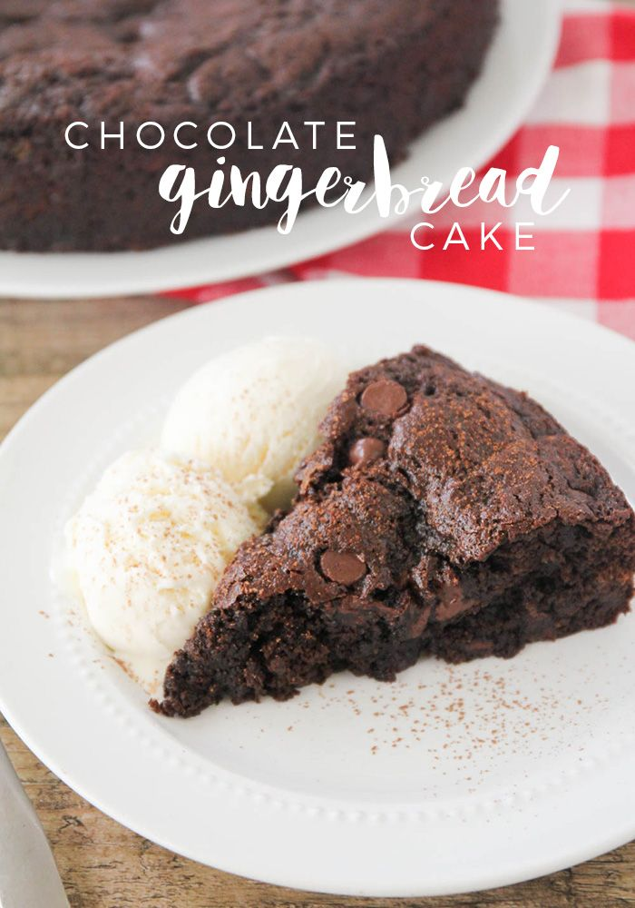 Chocolate Gingerbread Cake - This chocolate gingerbread cake is rich and indulgent, with just a hint of spice. The perfect sweet treat for any holiday celebration!