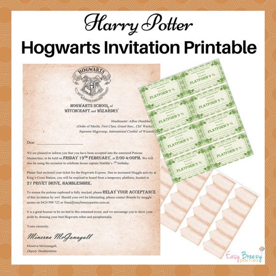 harry potter plateform 9 invitation pdf
