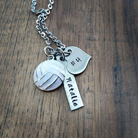 Check out this item in my Etsy shop https://www.etsy.com/listing/206692621/hand-stamped-personalized-volleyball