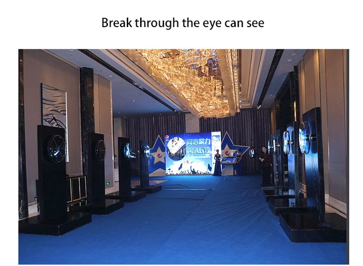 3d hologram led fan LanZhou Pepsi large launch event