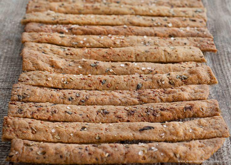 Receta: Paleo Crackers Crujientes (sin gluten, sin frutos secos)   Eva Muerde La Manzana
