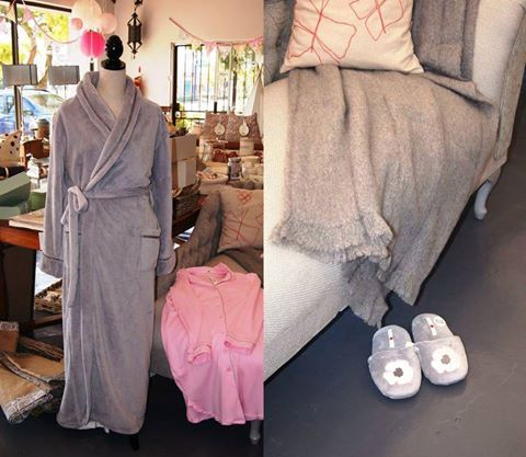 A warm and cuddly gown, soft and comfy slippers together with a mug of hot chocolate! Perfect!! Pop in and take a look at our stunning Poppy Divine Collection.