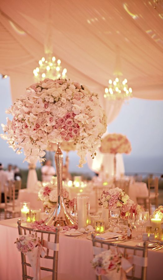 Pink wedding centerpieces pixshark images
