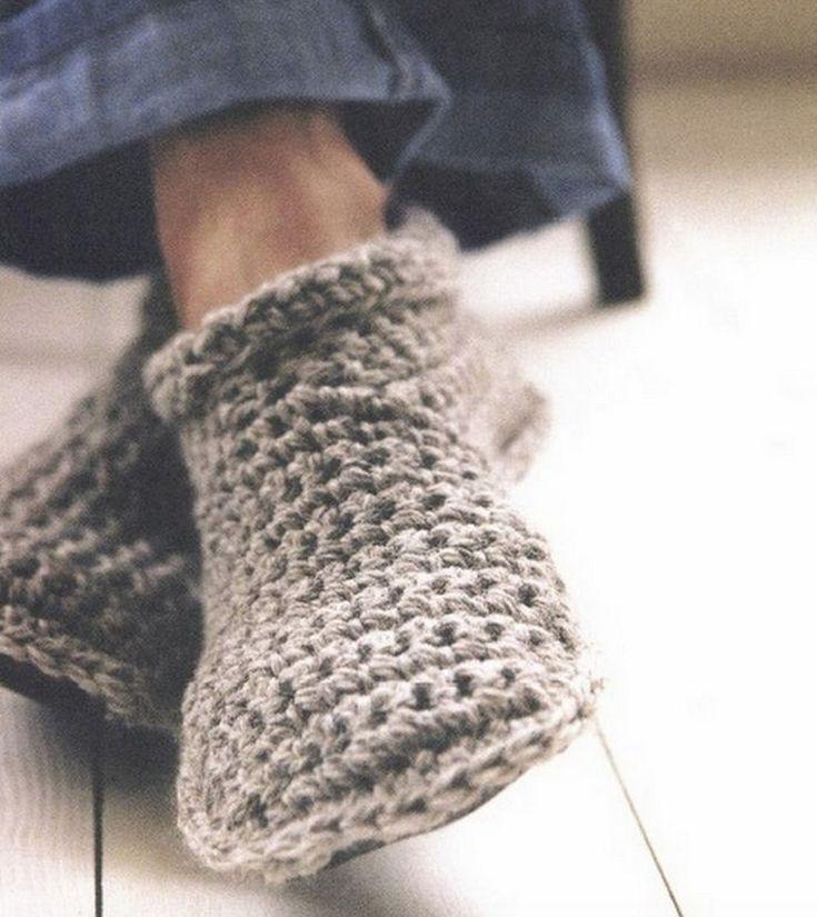 Free Crochet Slipper Patterns Unisex Slippers Crochet And Knitted Free Patterns Crocheted