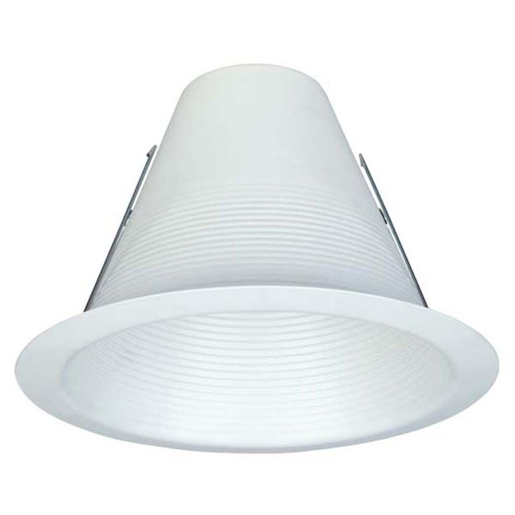 Commercial Electric 6 in. White Airtight Baffle Trim (12-Pack) (T49)