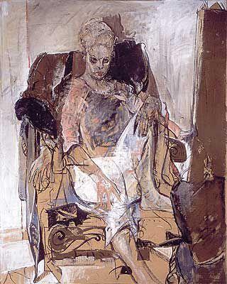 Kunstner og modell, 140x110, 2002