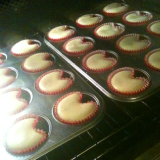 Marbles in cupcake tins = heart shaped cupcakes  Don't overfilled though!