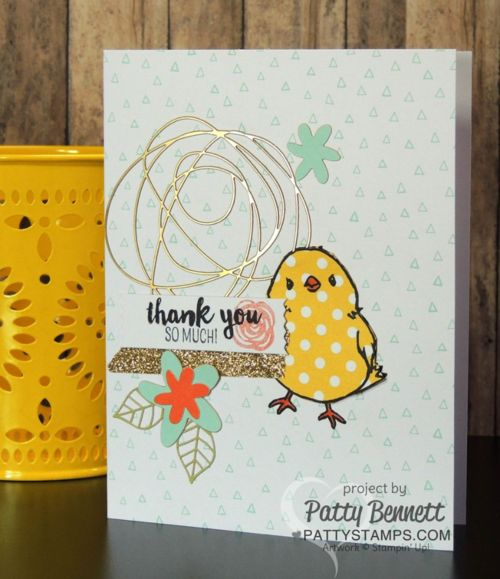 Create cute springtime or Easter cards with Honeycomb Happiness Sale a Bration stamp set and the February 2016 Paper Pumpkin kit from Stampin' UP!.