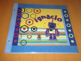 Álbum con Tornillos para Scrapbook, personalizado, tema de Robot.