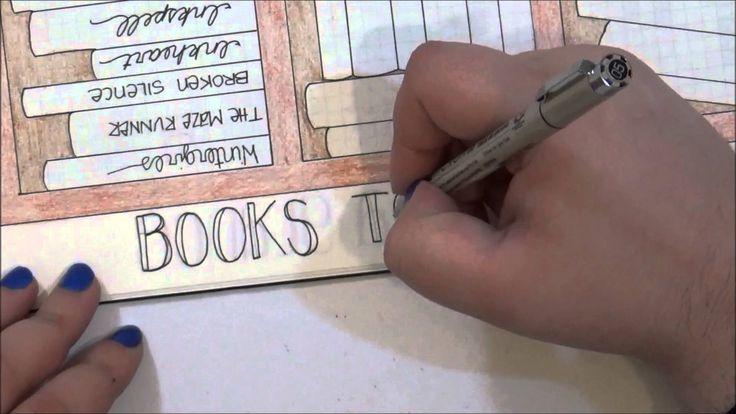 Books to Read Bookshelf for Bullet Journal
