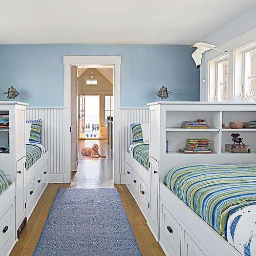 Embrace the Power of Built-ins - 20 Fun, Beachy Bunk Rooms - Coastal Living