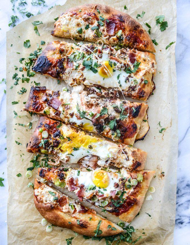 burrata breakfast pizza I howsweeteats.com