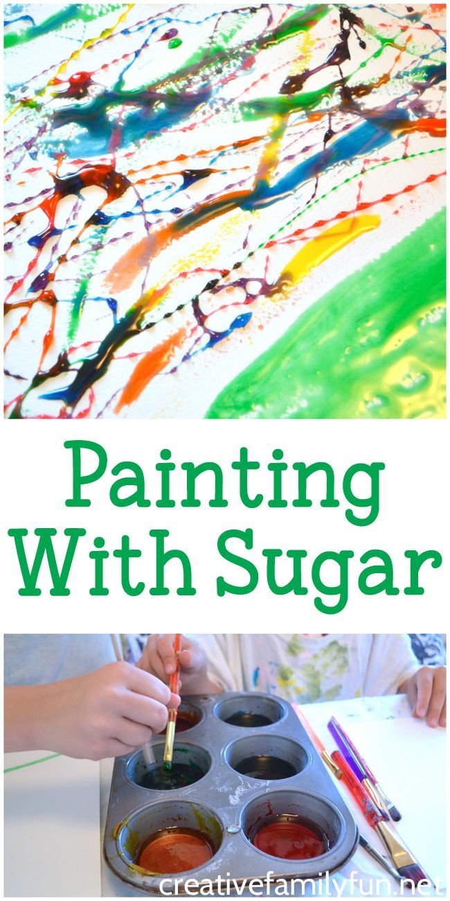Paint with sugar. Have fun painting with a DIY corn syrup paint.