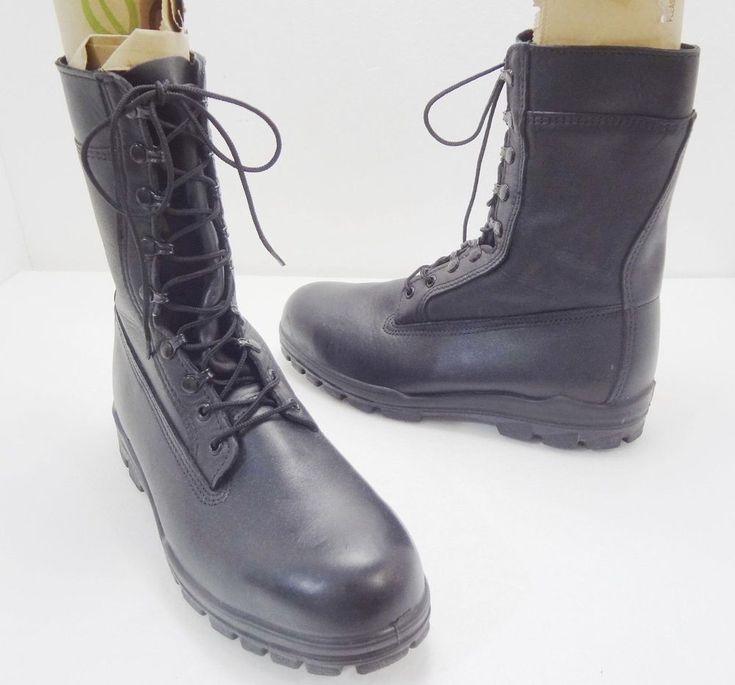 Bates Mens 11.5 US Navy Durashock 1621A Black Leather Steel Toe Work Boots  #Bates #WorkSafety