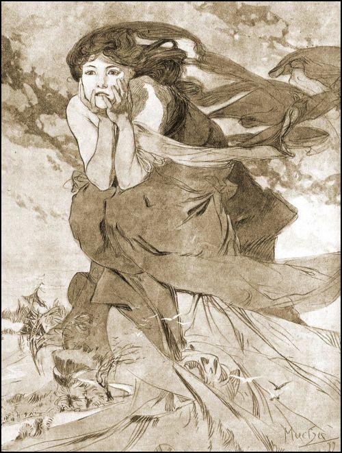 "saveflowers1: "" Art by Alphonse Mucha (1899). """
