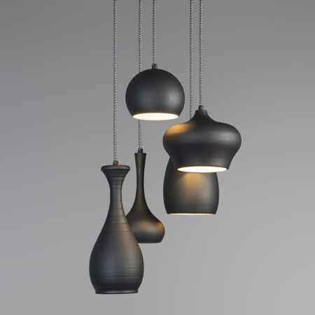 Hanglamp Drops 5 zwart
