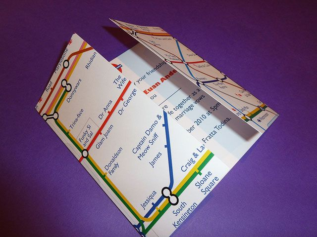 tube map wedding invitations - Google Search